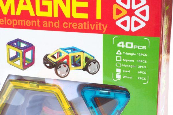 40 pc Magnetic Tile Building SetBox Details