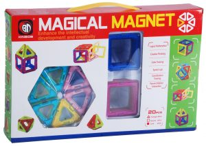 MS01001 20 pc magnetic building set