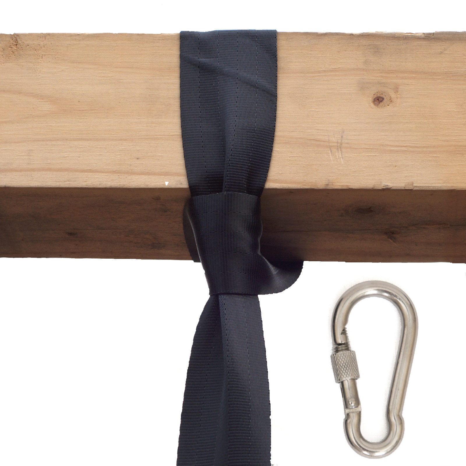 Swing Hanging Strap on Post With Carabiner