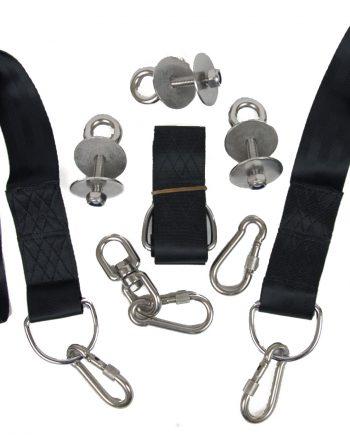 Tire swing swivel kit stainless steel swivel and 3 screw lock