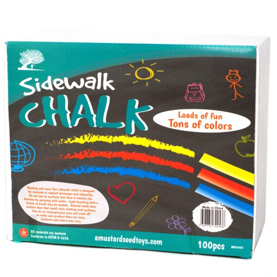 100 piece sidwalk chalk package