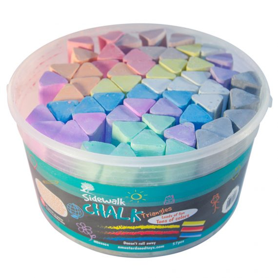 57-piece-triangle-sidewalk-chalk