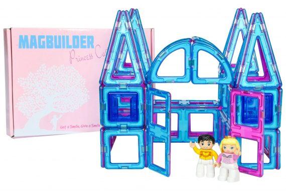 magnetic tile princess castle set with box
