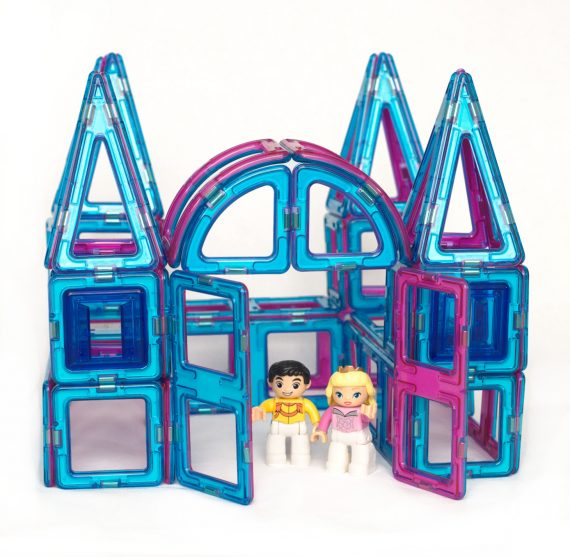 magnetic building blocks princess castle set