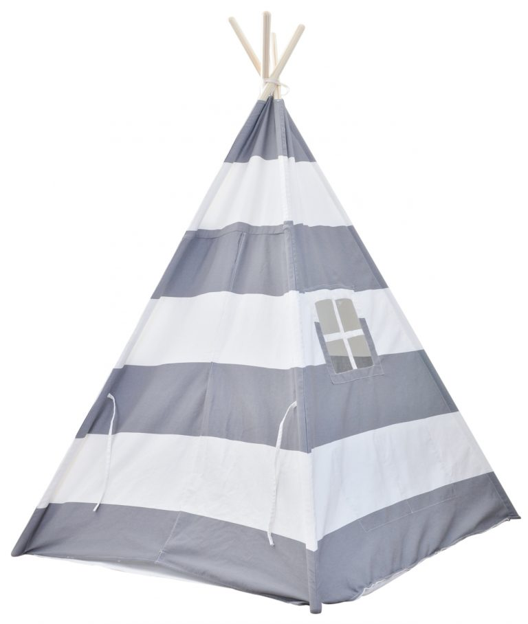 large teepee tent with velcro door closure