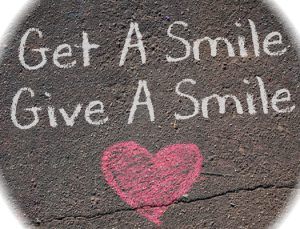 get a smile give a smile chalk