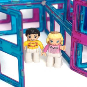 magnetic tiles, Prince And Princess from princess castle set