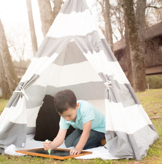 Teepee tent picture Chalk With Sun