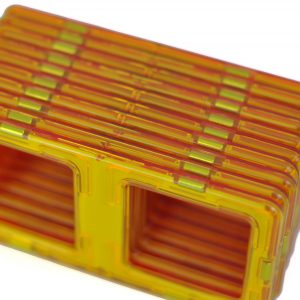magnetic tiles fire truck set pieces stacked