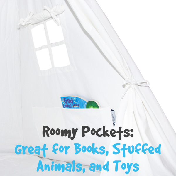 White Teepee Tent Pockets With Feature web_600