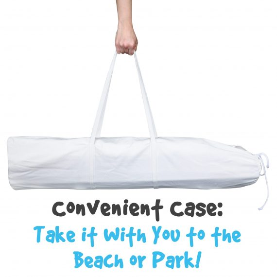White Tent Carrying Case with Feature