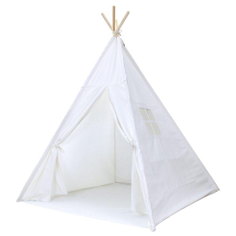 White canvas teepee for kids