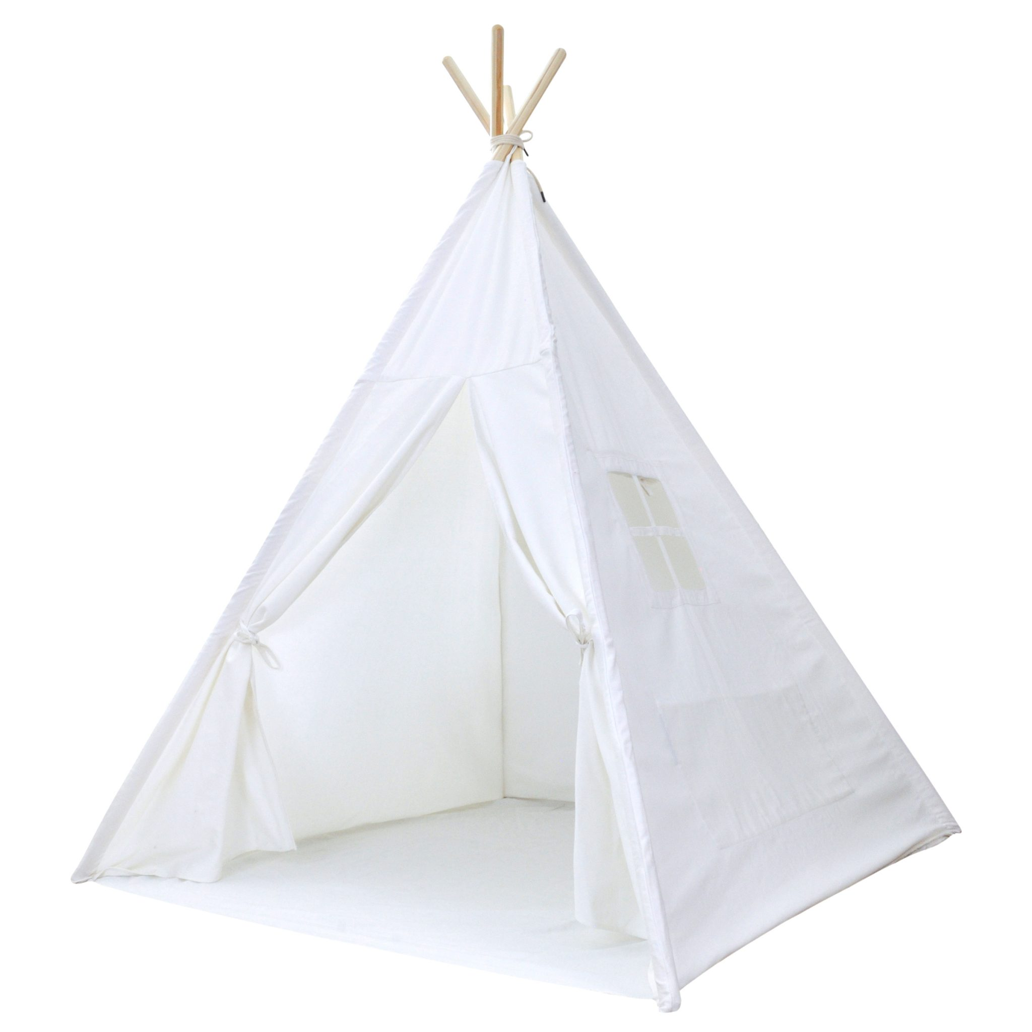 Portable Kids Canvas Teepee Tent with Carrying Case White Cotton Canvas - A Mustard Seed Toys  sc 1 st  A Mustard Seed Toys & Portable Kids Canvas Teepee Tent with Carrying Case White Cotton ...