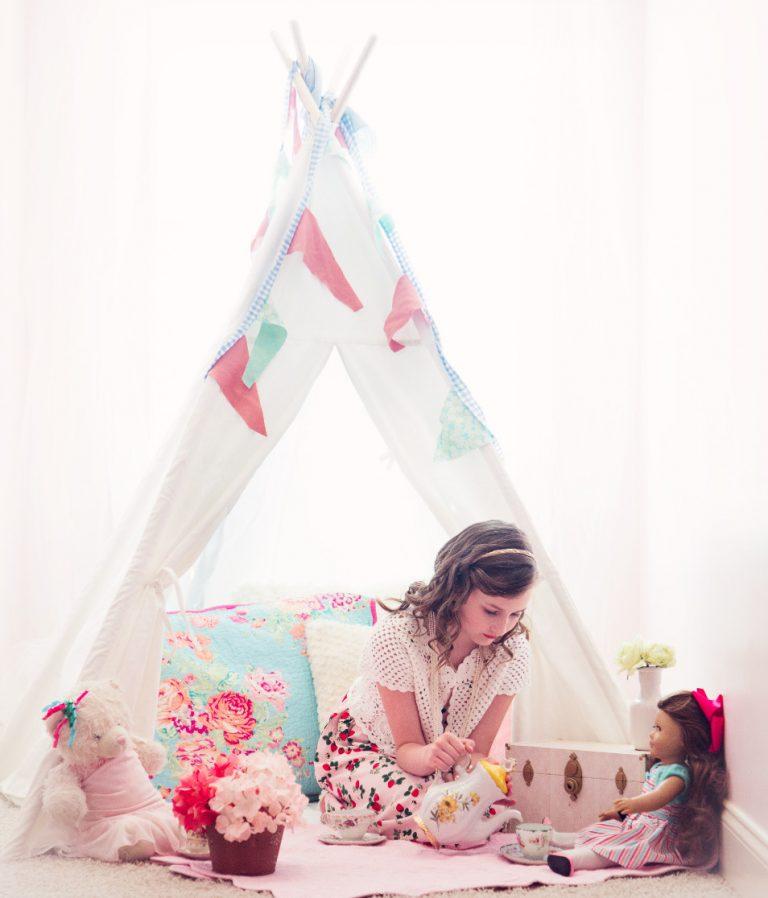 white teepee tent