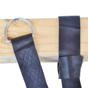 hanging strap attached to post