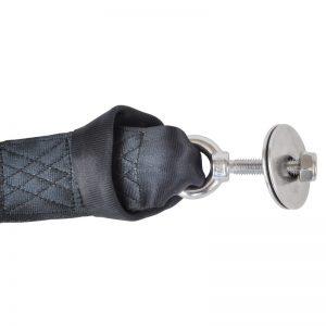 hanging strap eye bolt connection