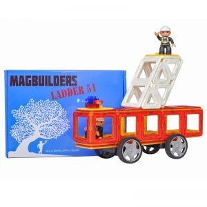magnetic tile Fire Truck And Box