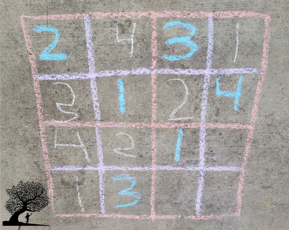 Sidewalk chalk sudoku 2