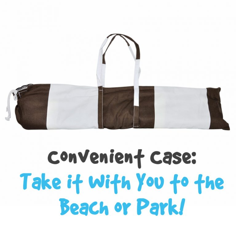 brown striped tent case