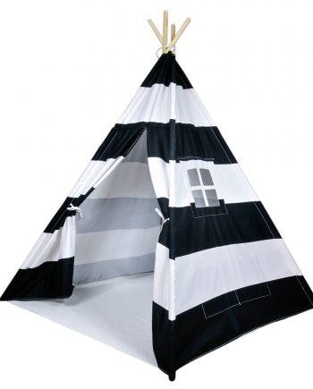 black striped kids teepee tent