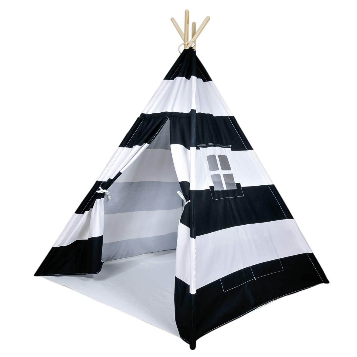 Home / Shop / Pretend Play / A Mustard Seed Toys Black Striped Canvas Teepee Tent No Added Chemicals Includes Carrying Case Black Stripes Cotton Canvas  sc 1 st  A Mustard Seed Toys & A Mustard Seed Toys Black Striped Canvas Teepee Tent No Added ...