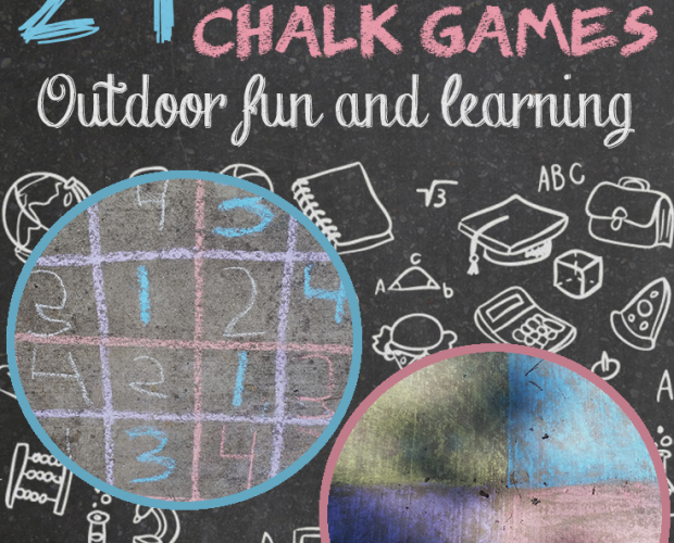 educational Sidewalk Chalk games