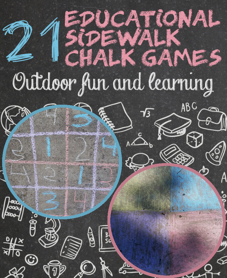 21 Educational Sidewalk Chalk Games A Mustard Seed Toys