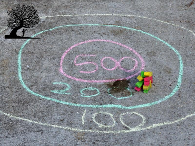 sidewalk chalk Sponge Toss