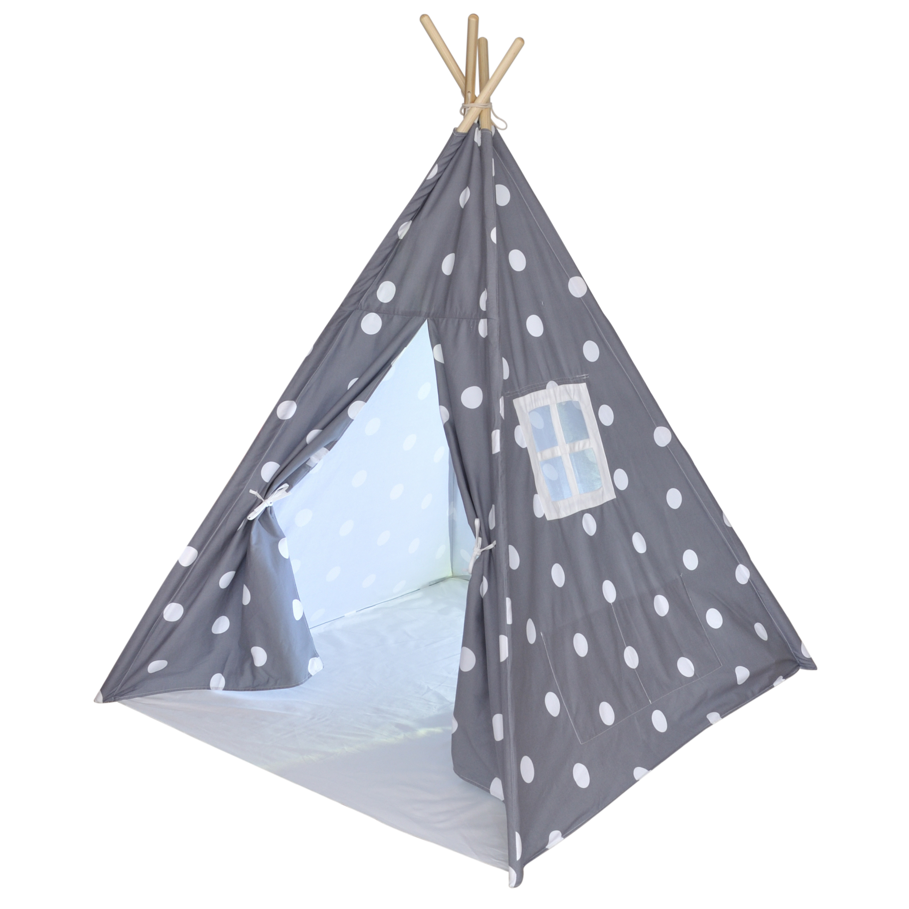 Home / Shop / Pretend Play / A Mustard Seed Toys Canvas Teepee Tent Gray with White Dots No Added Chemicals Includes Carrying Case  sc 1 st  A Mustard Seed Toys & A Mustard Seed Toys Canvas Teepee Tent Gray with White Dots No ...