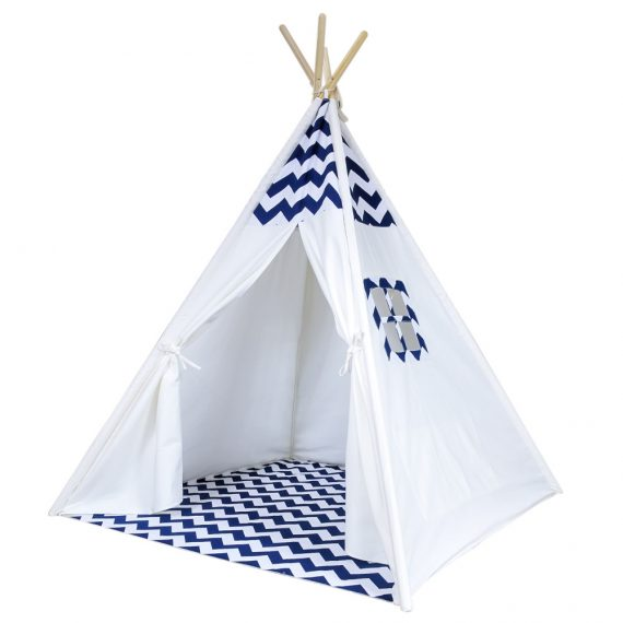 Navy and White Chevron kids play tent