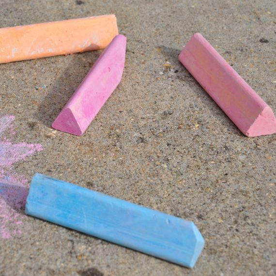 triangle sidewalk chalk