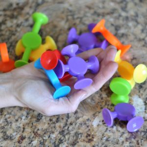 Easy Stikz suction cup toys in hand