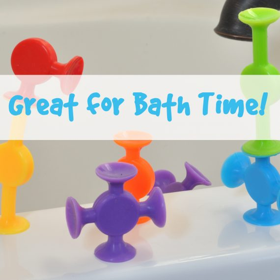 Using Easy Stikz suction cup toys in the bath