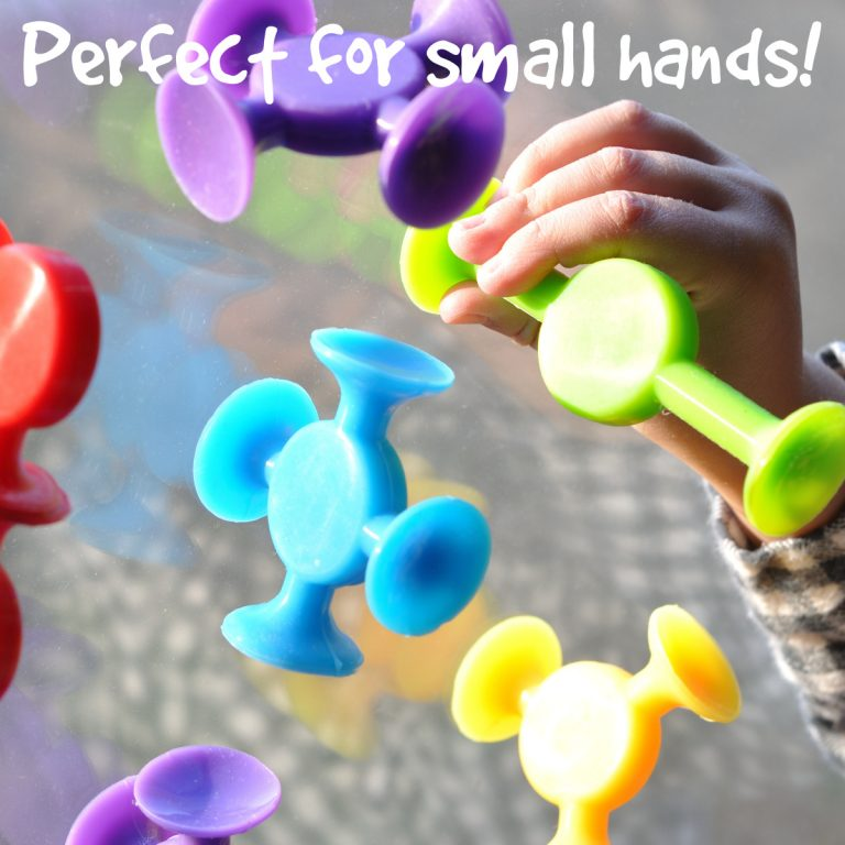 Easy Stikz suction toys on a window