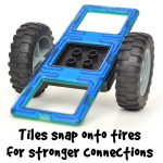 Magbuilders stronger tire snap-in and character base