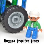 Magbuilders magnetic tile tractor tires and farmer