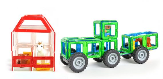 Magbuilders magnetic tile farm and barn set