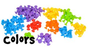 how to teach colors with easy stikz suction toys