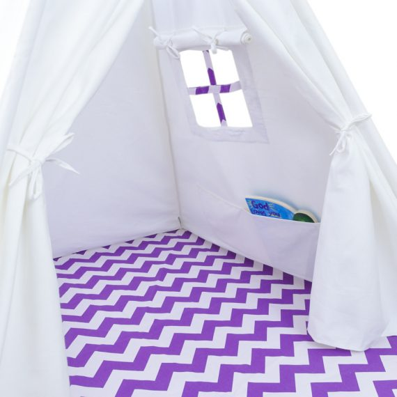 purple chevron teepee tent for kids