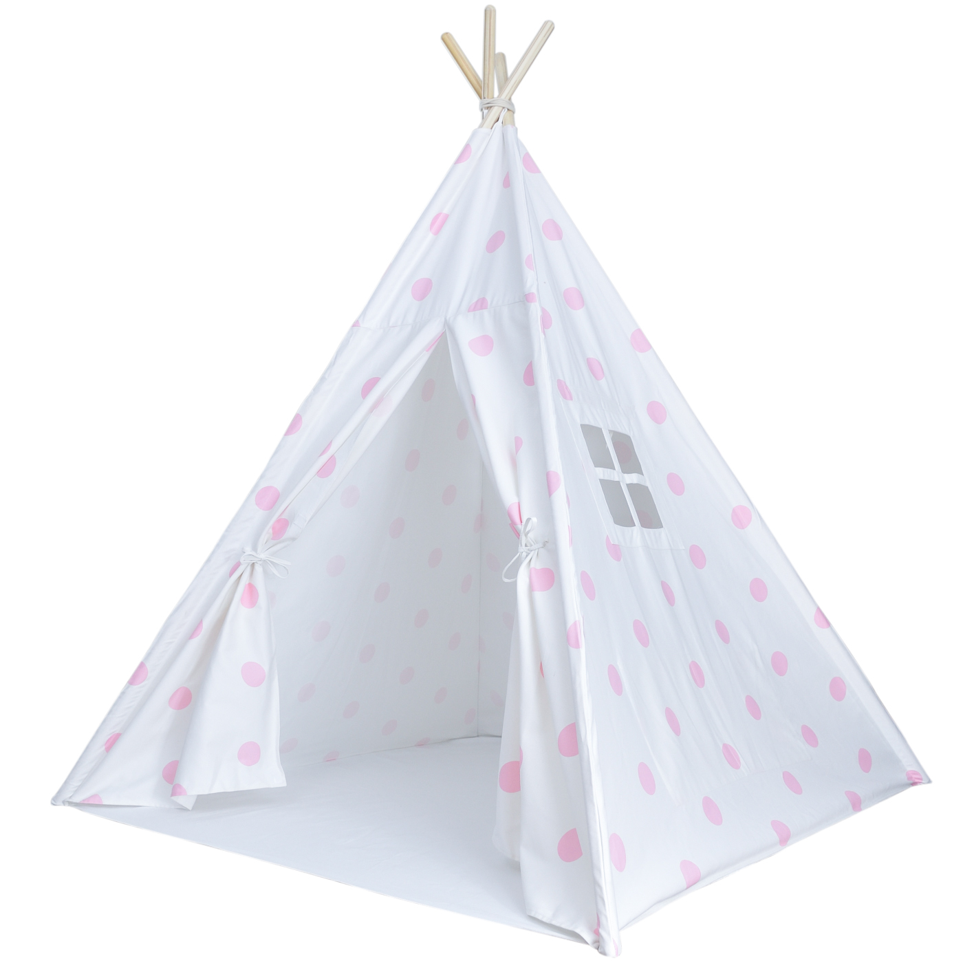 Home / Shop / Pretend Play / Polka Dot Kids Teepee Tent White with Pink Dots Includes Carrying Case  sc 1 st  A Mustard Seed Toys & Polka Dot Kids Teepee Tent White with Pink Dots Includes Carrying ...
