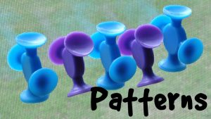 how to teach Patterns to kids using suction toys like Easy Stikz