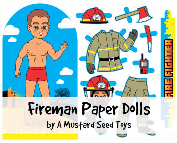 firefighter paper doll feature