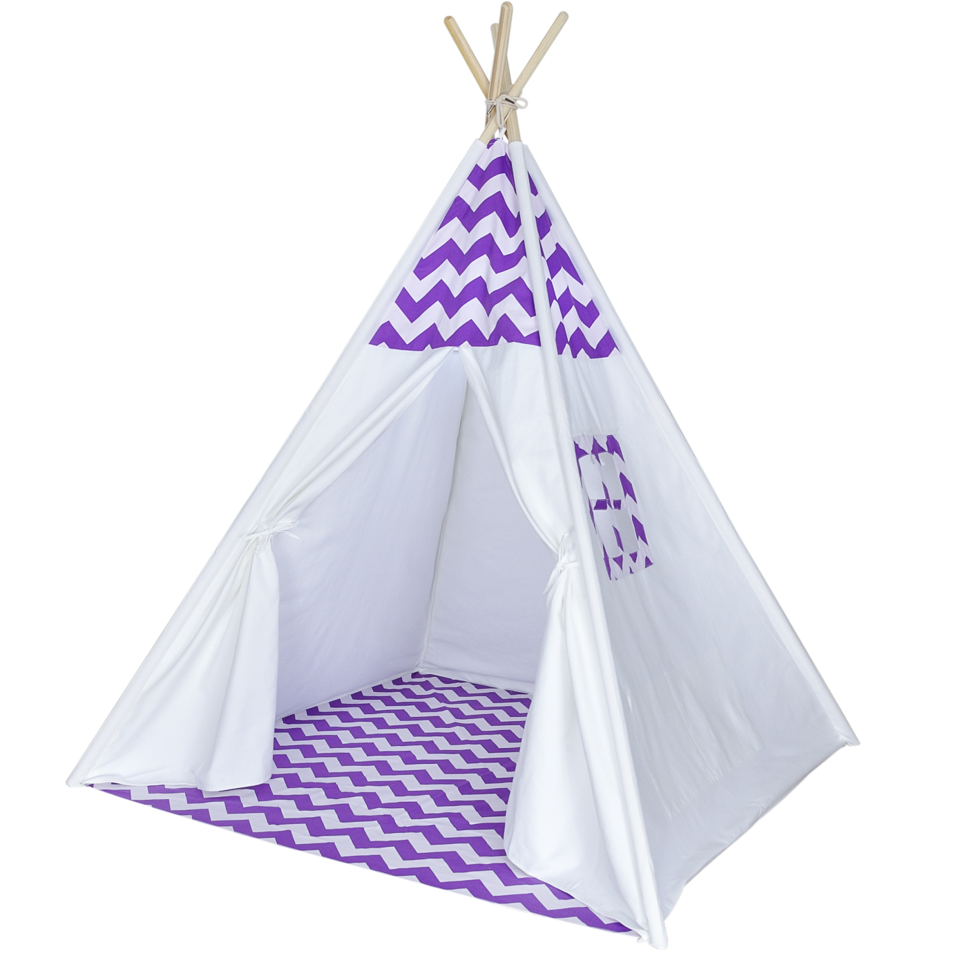 buy online 88709 0747e Kids Teepee Tent, Purple Chevron, No Added Chemicals, Includes Carrying Case