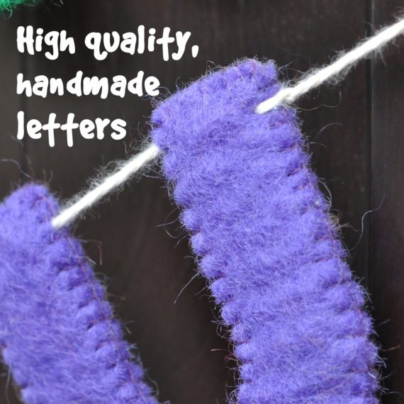 high quality wool felt uppercase letter garland for parties and decoration