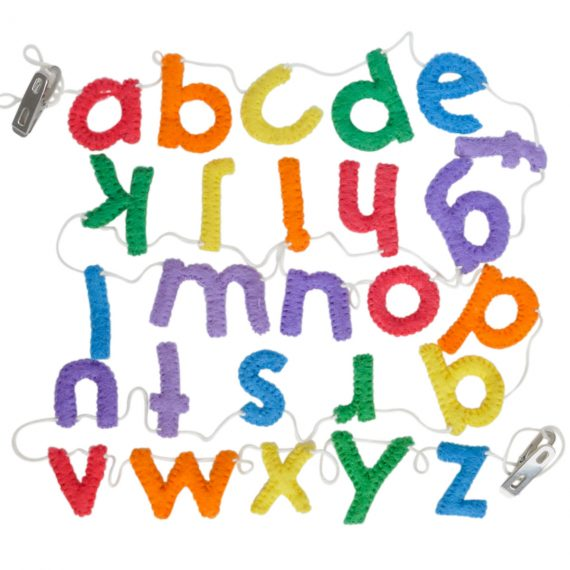 abc part supplies and decorations, lower case alphabet garland