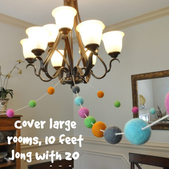 wool felt ball garland party decorations