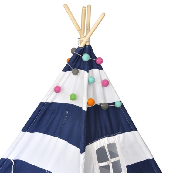 Teepee with felt ball garland decoration