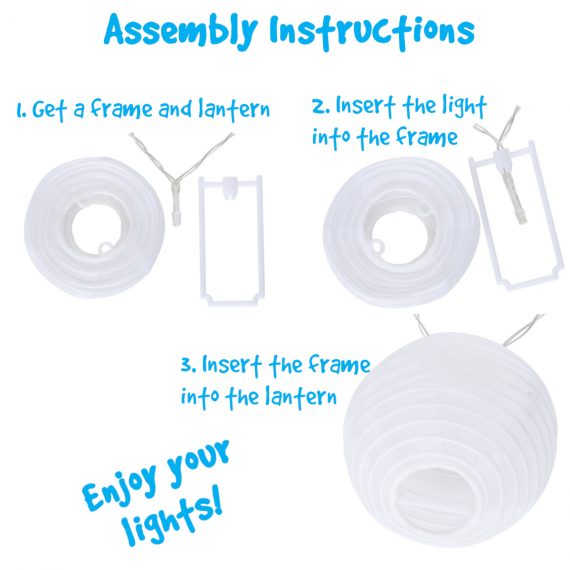 led lantern light strand assembly instructions