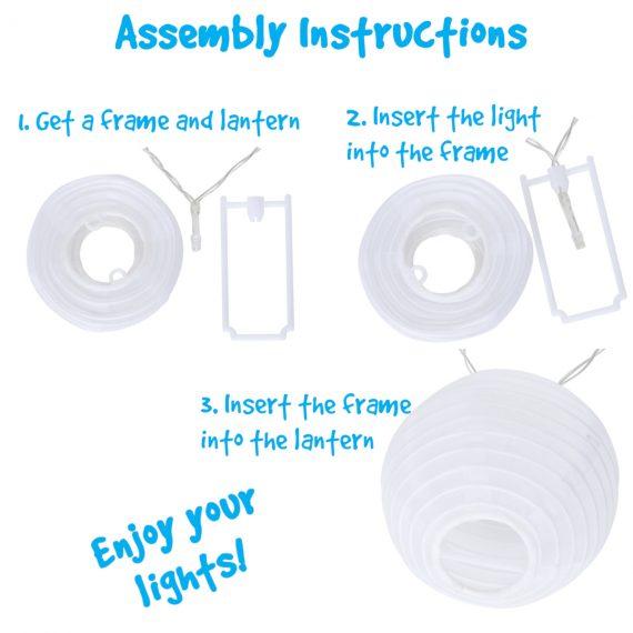 led lantern light strand assembly instructions