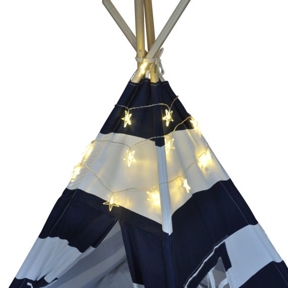 LED star string lights teepee decorations